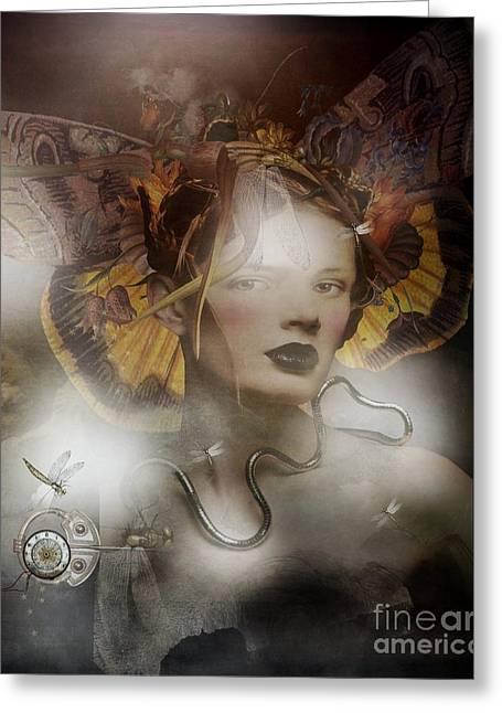 A.l.l.u.r.e Greeting Card by Monique Hierck