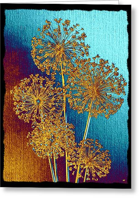 Alluring Allium Abstract 2 Greeting Card