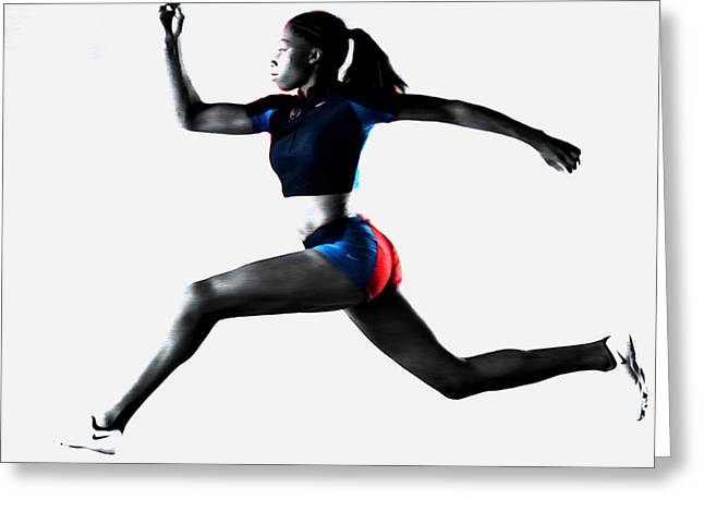 Allyson Felix Keep Moving Greeting Card