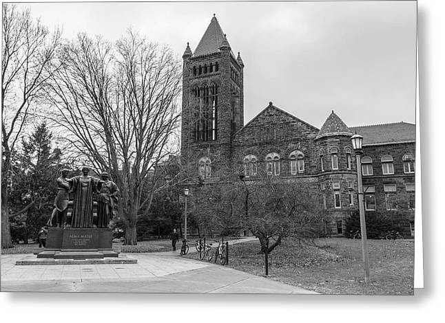 Alma Mater And Law Library University Of Illinois  Greeting Card