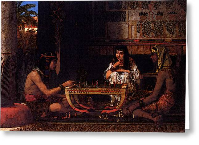 Alma Tadema Egyptian Chess Players Greeting Card by Lawrence Alma Tadema
