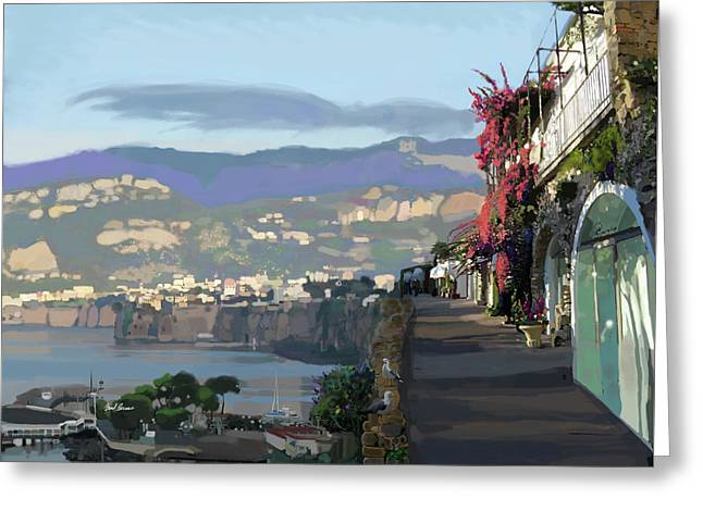Almalfi Coast Greeting Card by Brad Burns