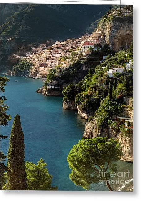 Almalfi Coast Greeting Card by Brian Jannsen