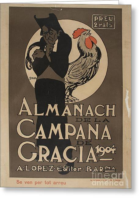 Almanach De La Campana De Gracia Greeting Card