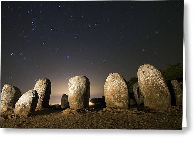 Almendres Cromlech Greeting Card by Andre Goncalves