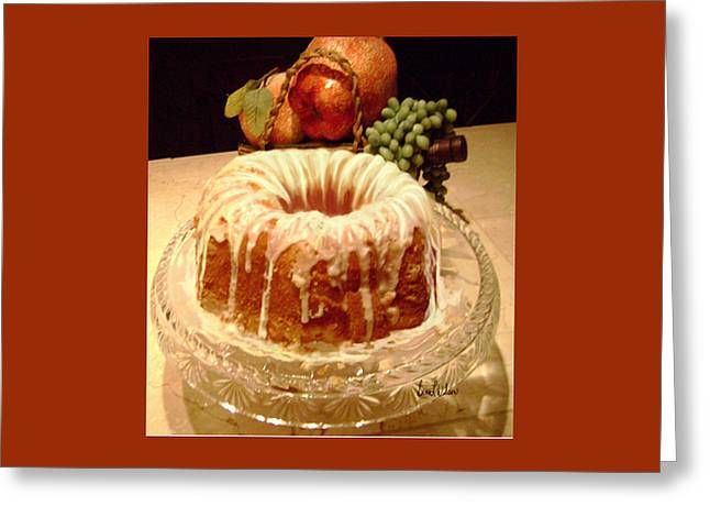 Almond Cheese Pound Cake Greeting Card
