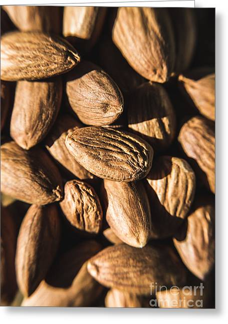 Greeting Card featuring the photograph Almond Nuts by Jorgo Photography - Wall Art Gallery