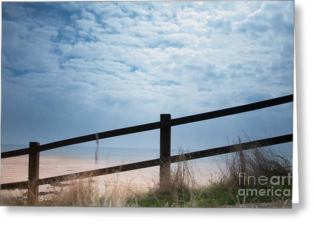Greeting Card featuring the photograph Almost At The Beach by Jan Bickerton