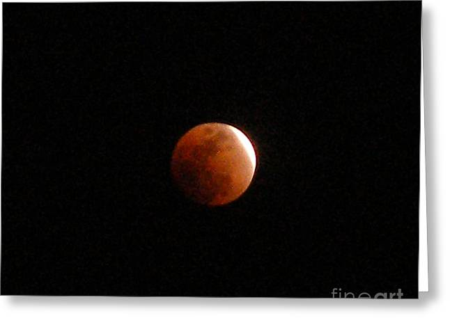 Almost Eclipsed Greeting Card by Sibby S