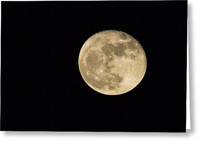 Skies - Almost Full Moon Greeting Card