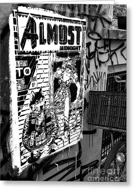 Almost Midnight Mono Greeting Card by John Rizzuto