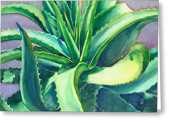 Aloe Vera Watercolor Greeting Card