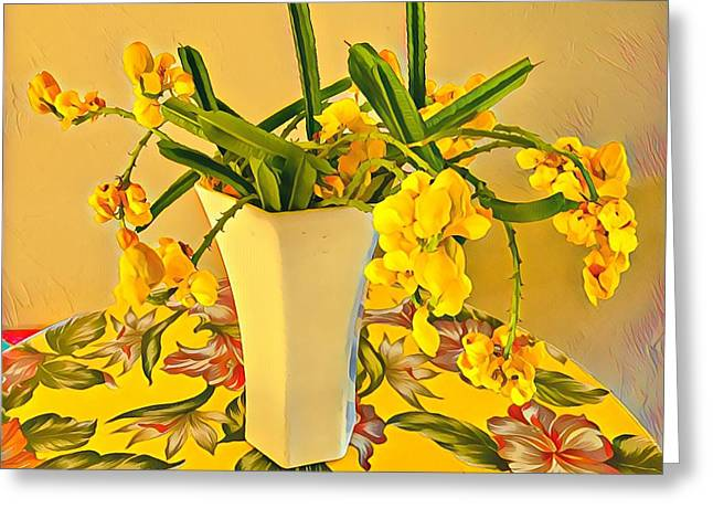 Aloha Bouquet Of The Day - Yellow Wild Flowers Greeting Card