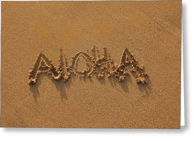 Aloha In The Sand Greeting Card