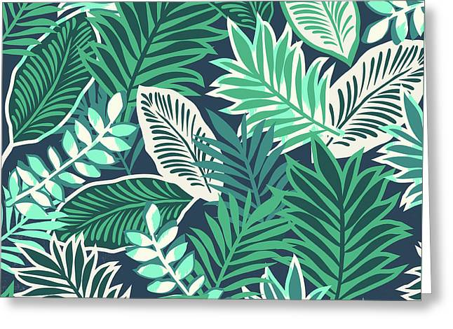 Aloha Jungle Vibes Greeting Card by Arte Flora Design Studio