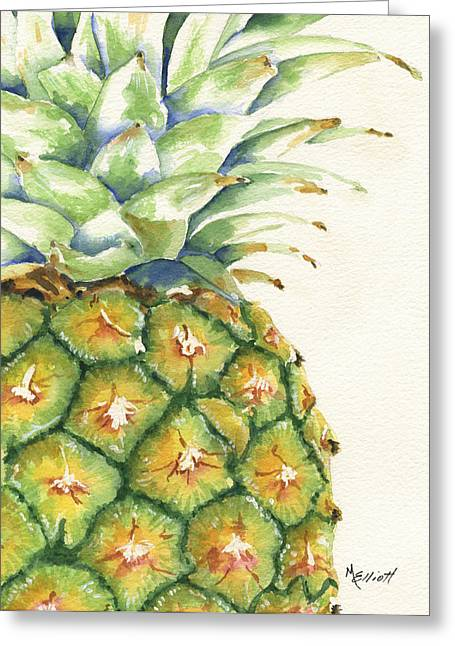 Tropical Fruit Greeting Cards - Aloha Greeting Card by Marsha Elliott