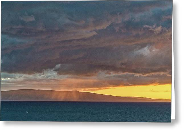 Aloha Rains Greeting Card by William Ferry