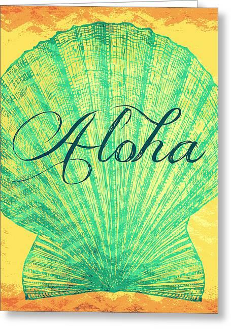 Aloha Shell Greeting Card by Brandi Fitzgerald
