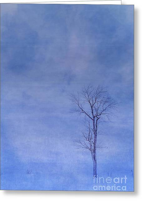 Alone Against The Storm Greeting Card