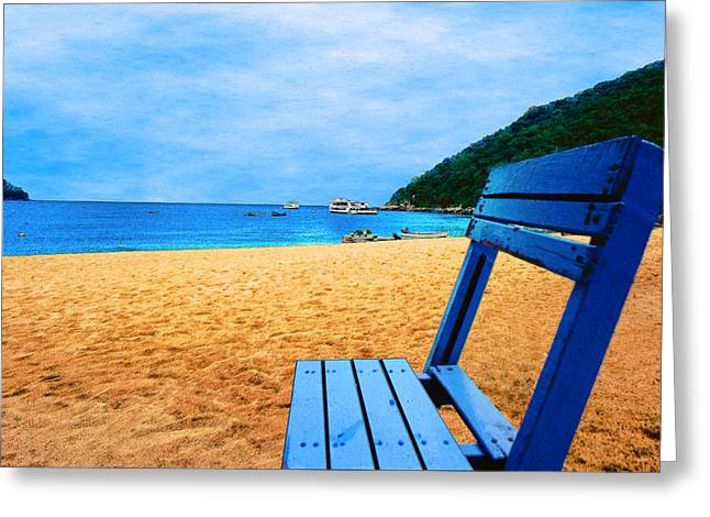 Alone Digital Art Greeting Cards - Alone and Blue Greeting Card by Paul Wear