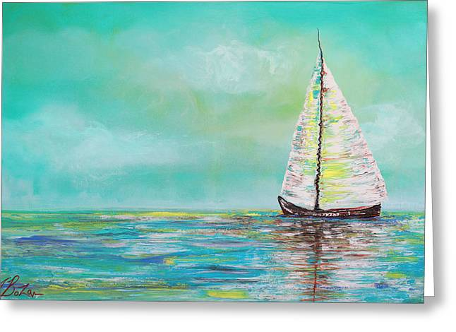 Alone At Sea Greeting Card by Laura Barbosa