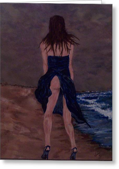 Alone By The Sea Greeting Card by Francis Bourque