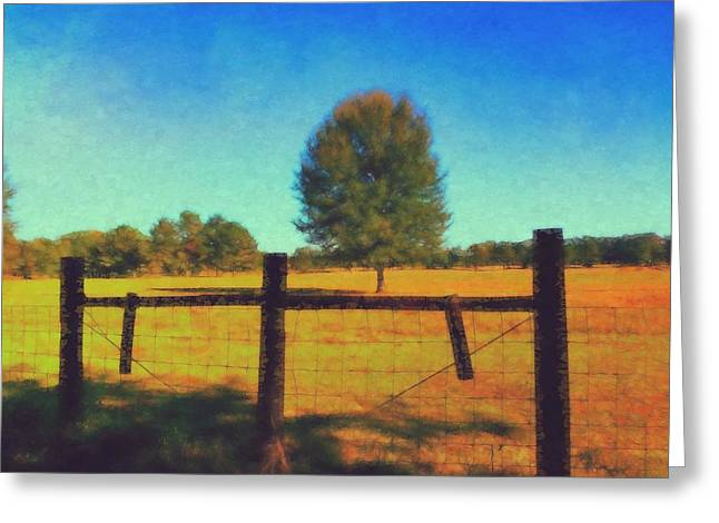 Alone In A Pasture Greeting Card