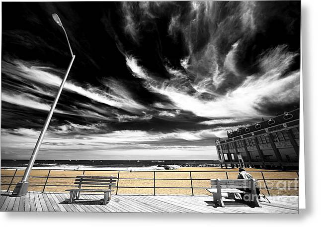 Alone In Asbury Park Fusion Greeting Card by John Rizzuto