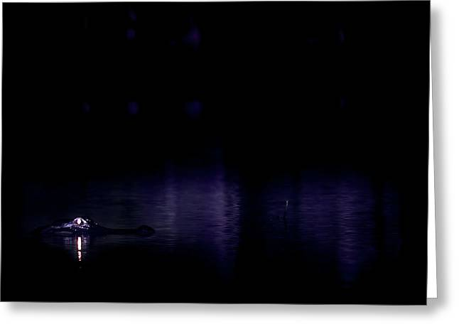 Greeting Card featuring the photograph Alone In The Dark by Mark Andrew Thomas