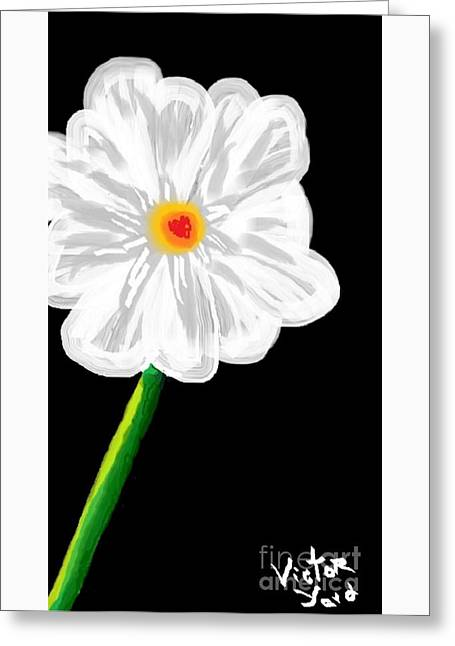 Alone In The Dark Greeting Card by Victor Yard