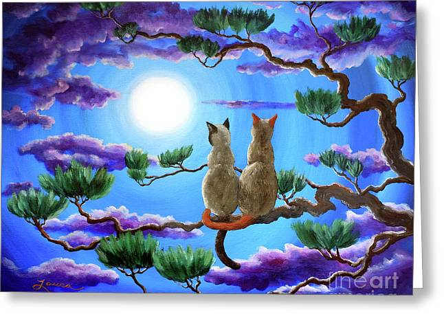 Alone In The Treetops Greeting Card by Laura Iverson