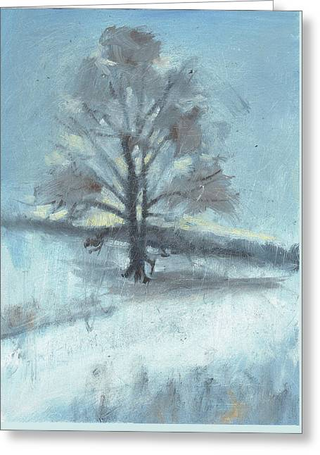 Alone In Winter Greeting Card by Spencer Meagher