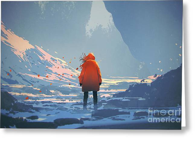 Alone In Winter Greeting Card