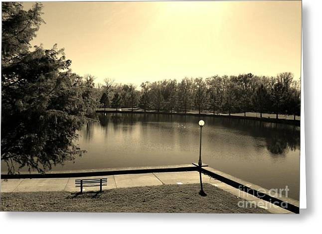 Alone Now In Thought - Sepia Greeting Card by Scott D Van Osdol