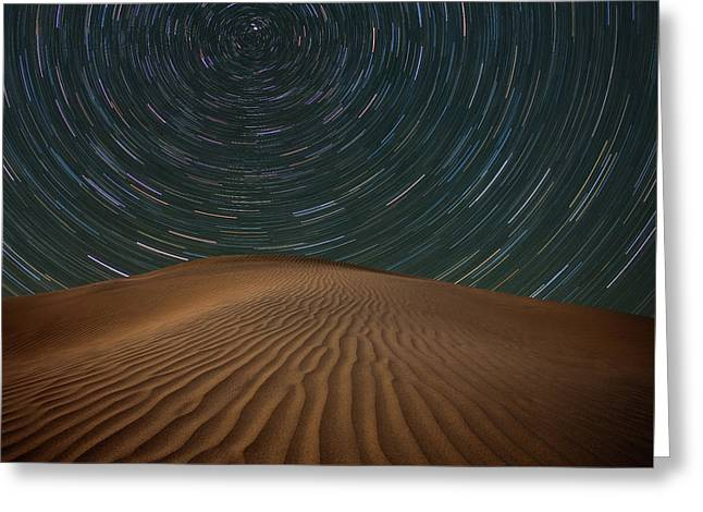 Alone On The Dunes Greeting Card by Darren White