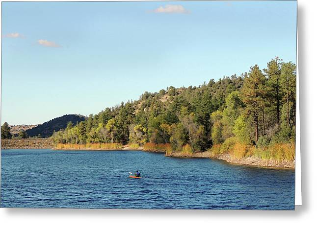 Alone On The Lake Greeting Card by Gordon Beck
