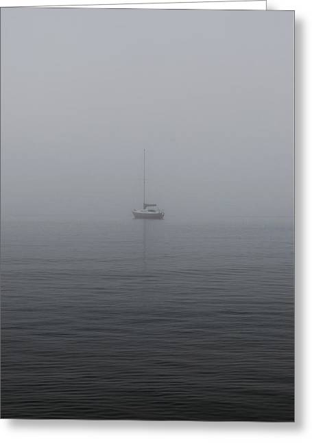 Alone Our Sail  Greeting Card by Jerry Cordeiro