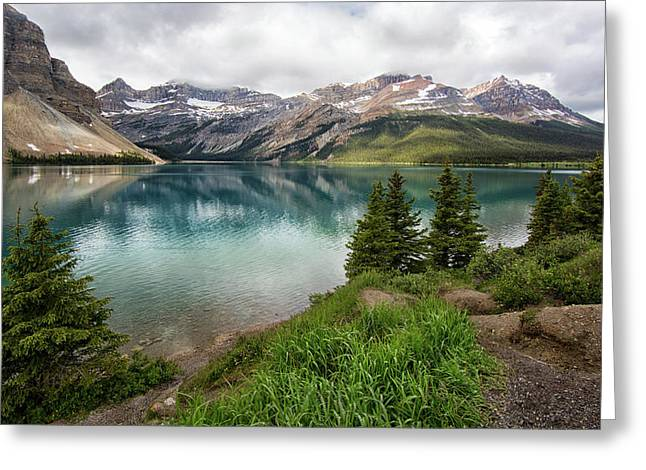 Along Icefields Parkway Greeting Card