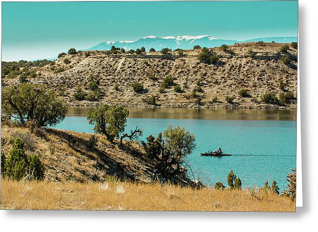 Along The Banks Of The Arkansas River Greeting Card by John Bartelt