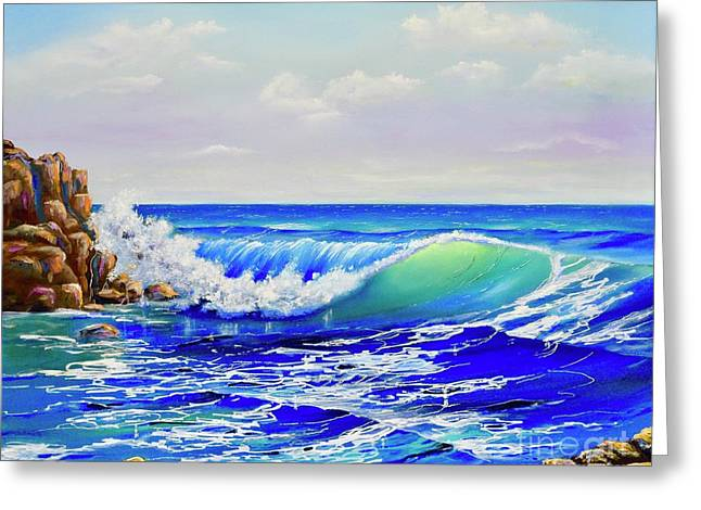 Greeting Card featuring the painting Along The Coast by Mary Scott