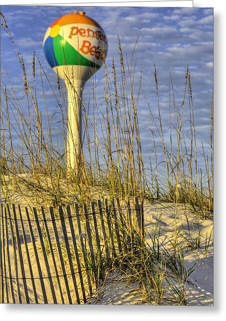 Along The Coast Of Pensacola Beach Greeting Card by JC Findley