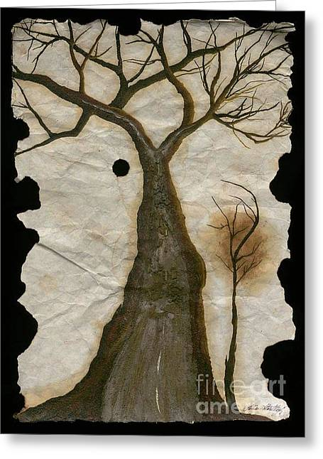 Along The Crumbling Fork In The Road Of The Tree Of Life Acfrtl Greeting Card