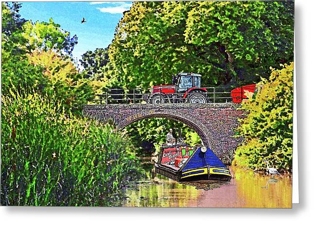 Along The Cut 1 Greeting Card by Peter Allen
