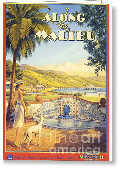 Along The Malibu Greeting Card