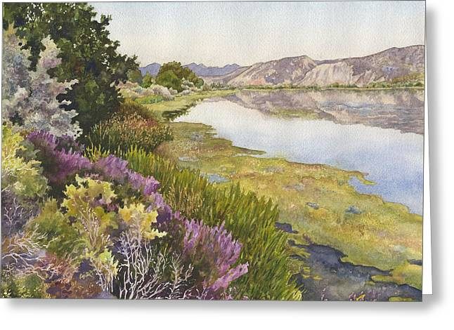 Along The Oregon Trail Greeting Card by Anne Gifford
