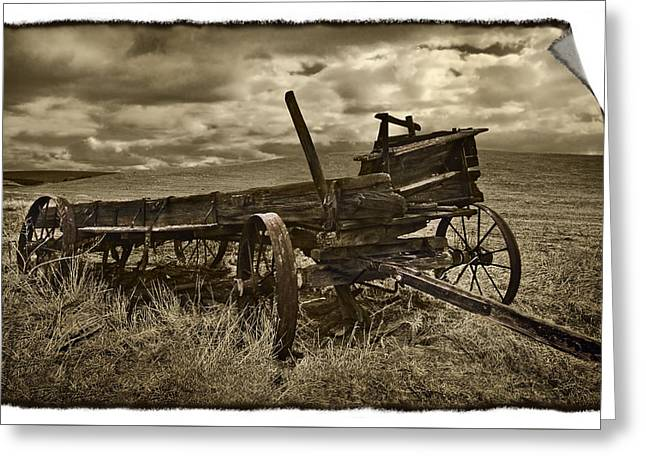 Along The Oregon Trail Greeting Card by John Christopher