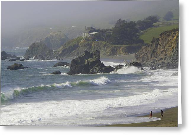 Along The Pacific #2 Greeting Card