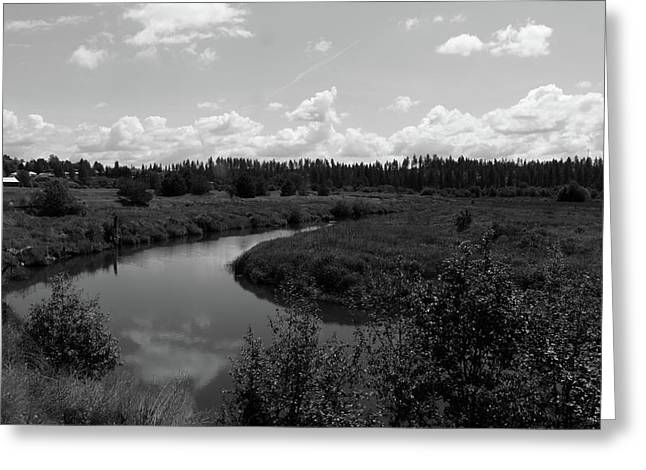 Along The Palouse River Greeting Card