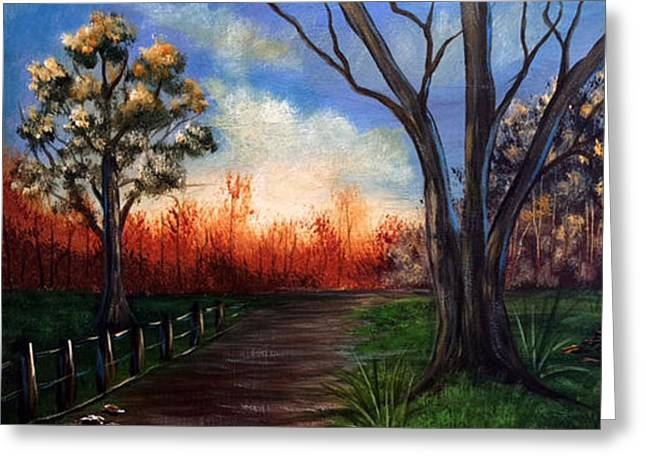 Along The Path Greeting Card by Janet Jackson