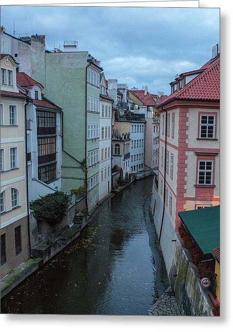 Greeting Card featuring the photograph Along The Prague Canals by Matthew Wolf
